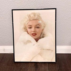 Marilyn Monroe In White Fur Coat Vintage Poster